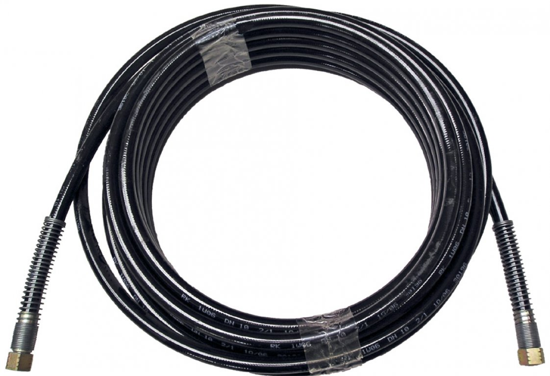 HP hose with textile inlay