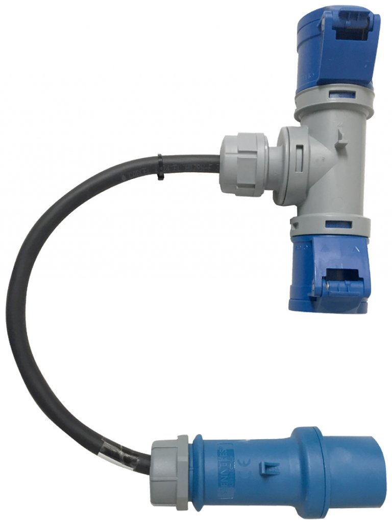 Double adapter for vibrating unit