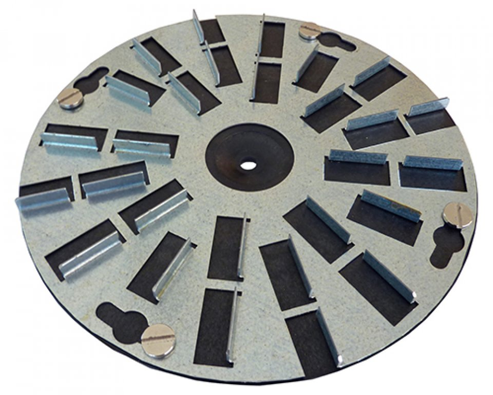 Rubbing board attachment (for use with base plate) / Application: Rubbing (pair, 200 mm diameter each)