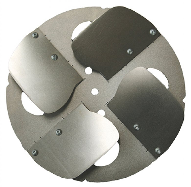 Smoothing discs with steel blades / Application: Smoothing (pair, 200 mm diameter each)