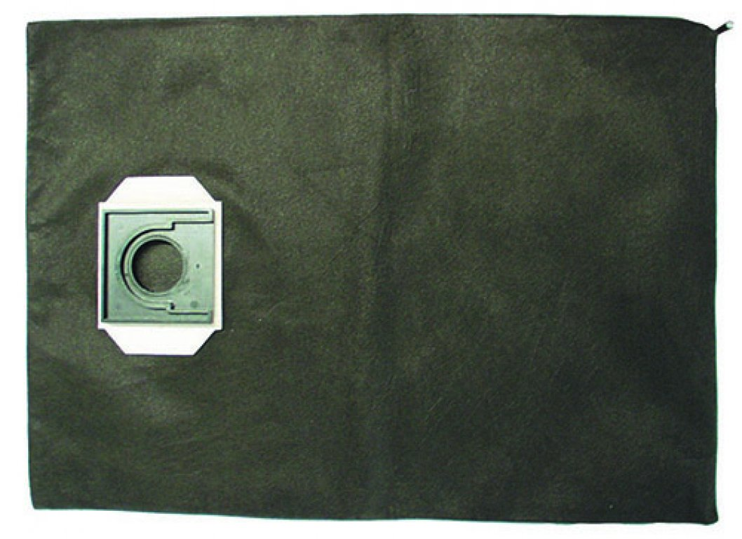 Material filter bag with zip fastener for emptying, 15 l content